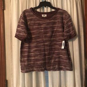 Old Navy sweater, shirt sleeve, size M, burgundy
